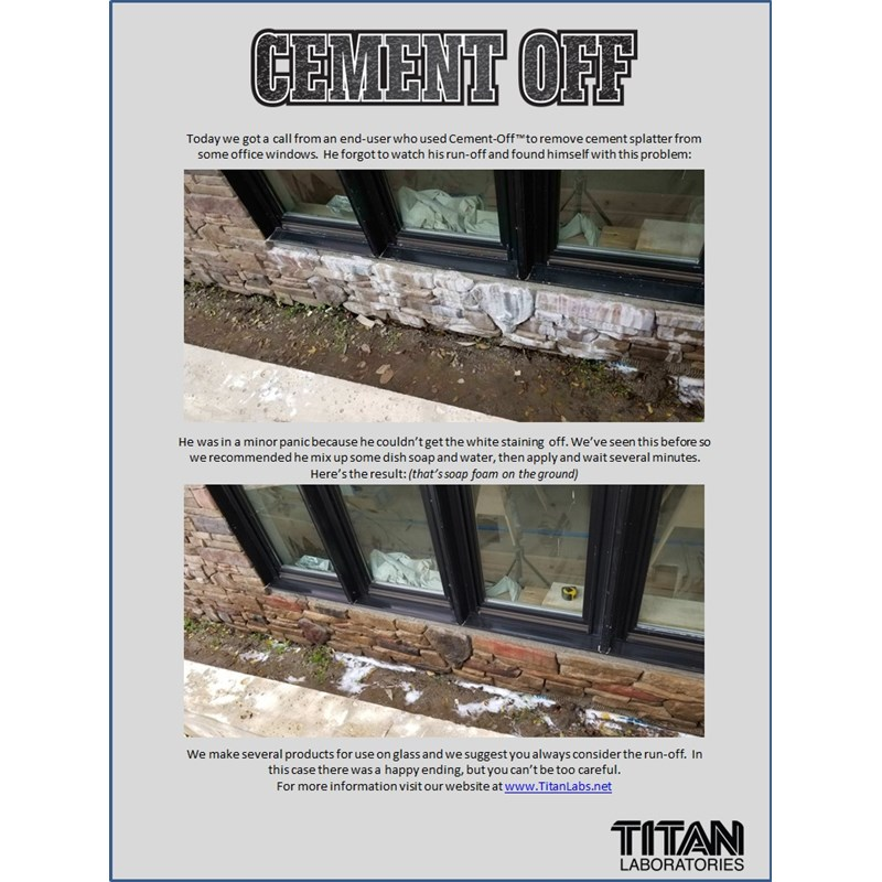Titan Labs Cement-Off Cleaner  Image 2
